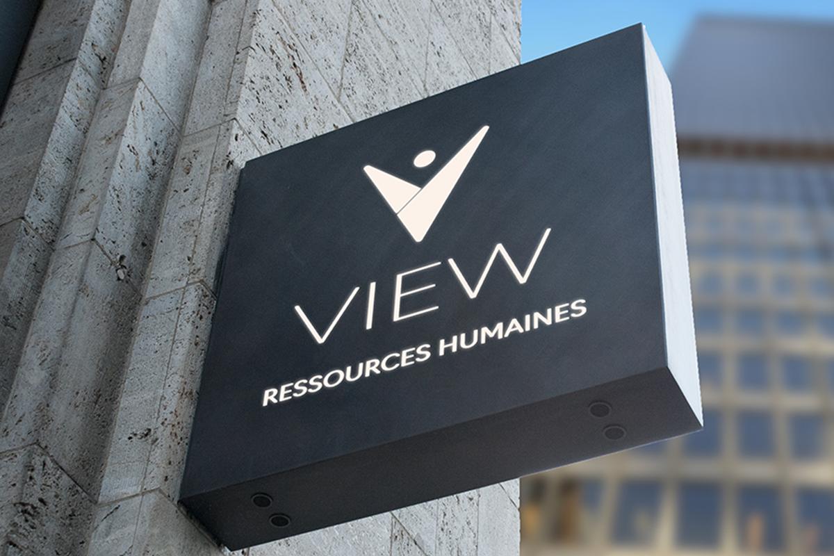 Comunicação visual e design gráfico da View - Recursos humanos
