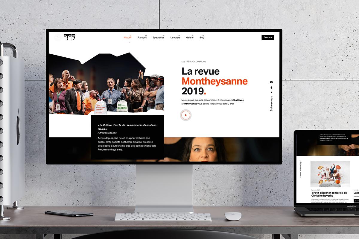 Les Tréteaux du Bourg - Website