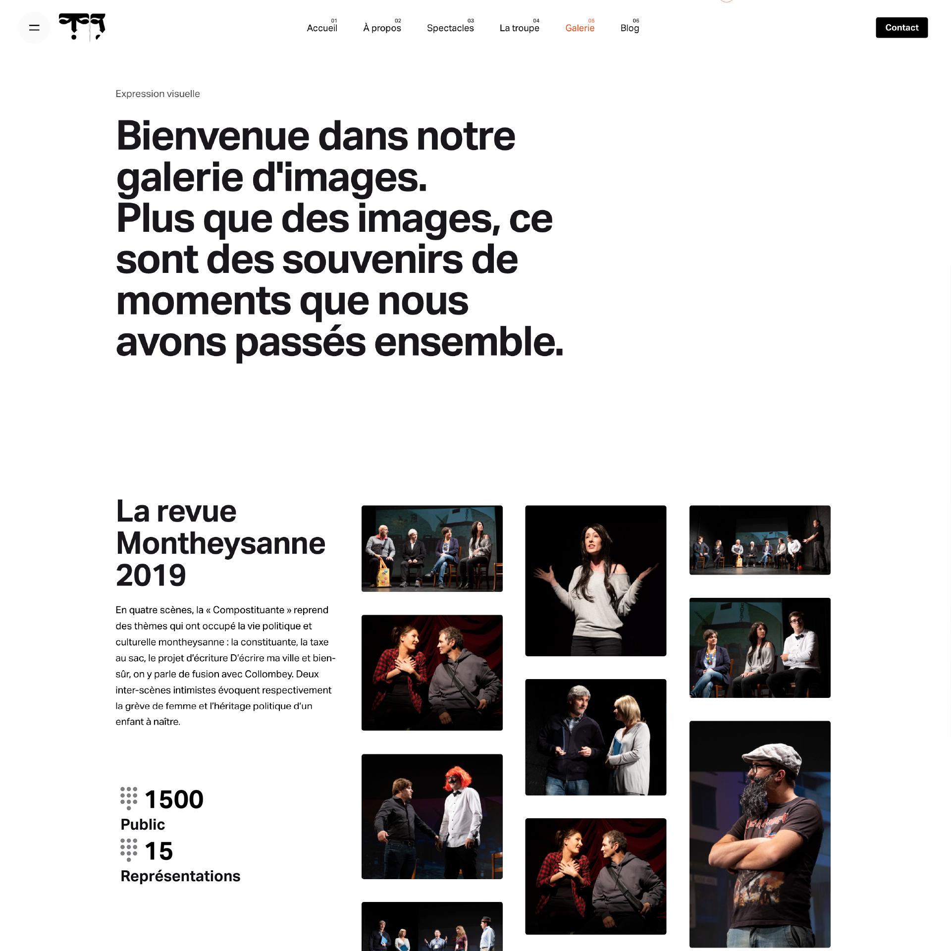 website_treteauxdubourg- galeria de fotos das diversas peças