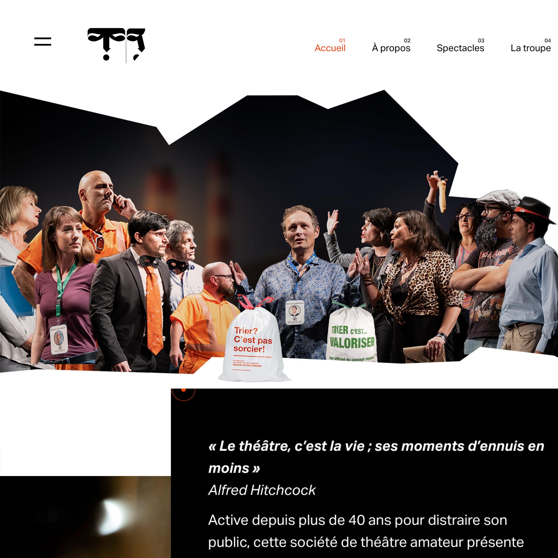 website_treteauxdubourg_imagem da Home page